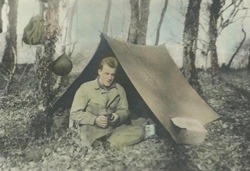 Matthew VanDyke's grandfather, US Army Sergeant Aaron Steltz
