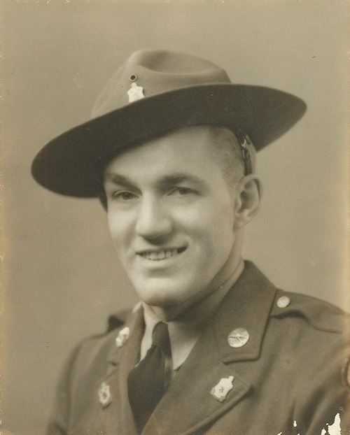 Matthew VanDyke's grandfather, US Army Sergeant Aaron Steltz, who was at D-Day