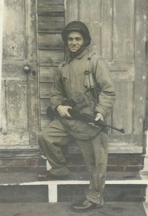 Matthew VanDyke's grandfather, US Army Sergeant Aaron Steltz, serving in Europe during WWII