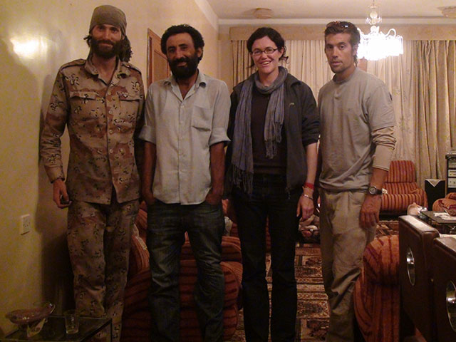 Matthew VanDyke, Nouri Fonas, Clare Morgana Gillis, and James Foley in Libya