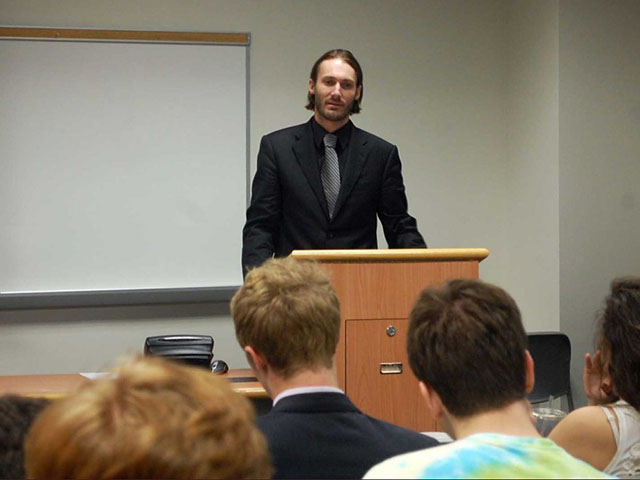 Freedom fighter Matthew VanDyke's speech at Georgetown University