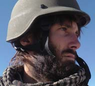 Matthew VanDyke working as a journalist in Afghanistan