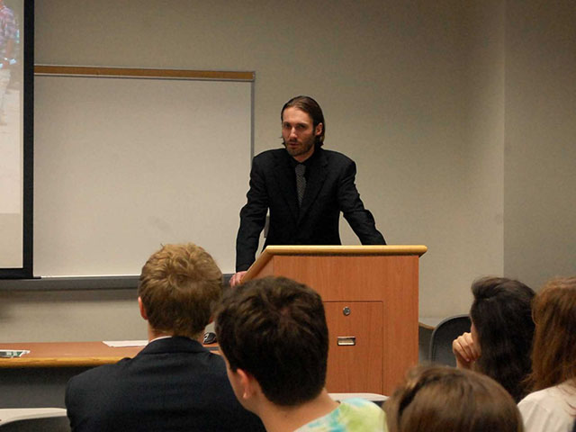 Freedom fighter Matthew VanDyke Public Speaking Event at Georgetown University