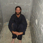 Matthew VanDyke in his prison cell in Libya